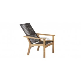 Barlow Tyrie Monterey Armchair Deep Seating - Teak & Cord