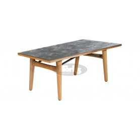 Barlow Tyrie Monterey Dining Table 200 Rectangular - Teak & Ceramic