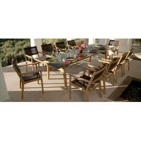 Barlow Tyrie Monterey Dining Table 300 Rectangular - Teak & Ceramic