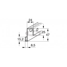 Aluminijasti profil za zračno povezavo med steno in profilom
