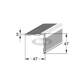 Aluminijasti prekrivni L profil