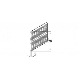Aluminium end strip