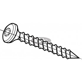 Pan head screw bz 4.0 x 30
