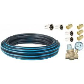 Standardni priključni KIT za priključitev črpalke na pipo z dvema filtroma in ventilom za zmanjševanje vhodnega tlaka