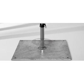 Steel base Z, 40 kg, 58,8 x 58,8 x v2 cm