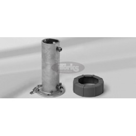 Support tube M4 with profile PzS / PzN, galvanised steel
