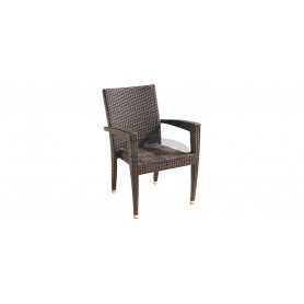 Havana armchair, color: leather look brown