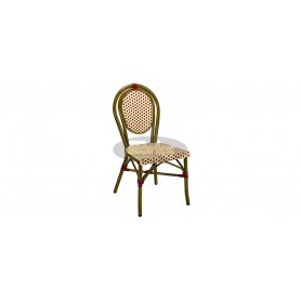 Paris chair, color: dark bamboo/beige/bordeaux