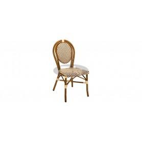Paris chair, color: dark bamboo/beige/brown