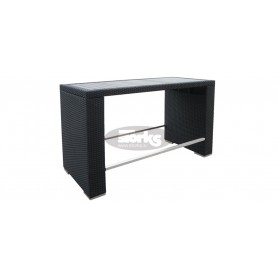 Ushape barska miza 70 x 160 cm, barva: črna