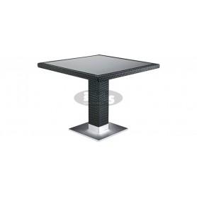 Casale miza 80 x 80 cm, barva: črna
