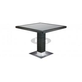 Casale miza 80 x 80 cm, barva: temno rjava