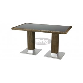 Casale table 80 x 140 cm, color: castana