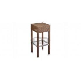 Casale barski stol brez naslona, barva: rjavo usnje