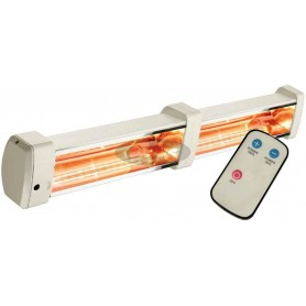 HELIADA 88 infrared heater with remote controller for wall