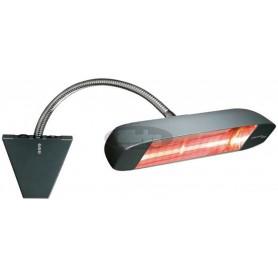 HELIADA 999, 1500W infrardeč grelec s Tilt stenskim nosilcem, IPX5