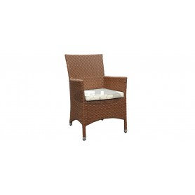 Cage K armchair, color: ivory
