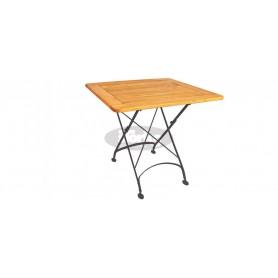 Maja zložljiva miza z okvirjem 80 x 80 x v78 cm