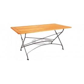 Maja zložljiva miza z okvirjem 160 x 80 x v78 cm