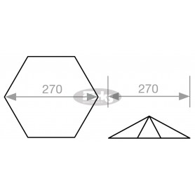 Paraflex šestkoten senčnik, 270 cm