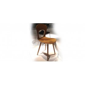 Wiki BL chair with wooden legs