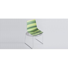 Cinquecolori S chair with connecting legs