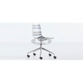 Cinquecolori 5R stol in kromirano nogo s koleščki