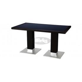 Casale miza 80 x 140 cm, barva: temno rjava