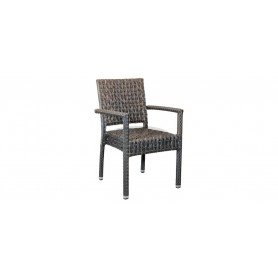 Casale Open stol z rokonasloni, barva: zasukana siva