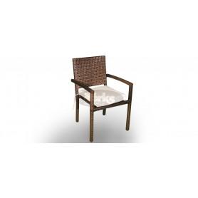 Casale Open Light stol z rokonasloni, barva: K rjavo usnje