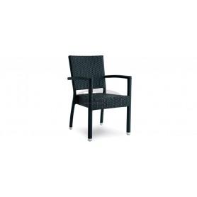 Casale Open stol z rokonasloni, barva: bela