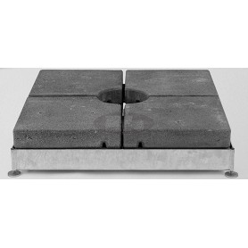 Base M4 / M8 / M16, 430-620 kg, 101,2 x 101,2 x v22 - 26 - 31 - 35 cm