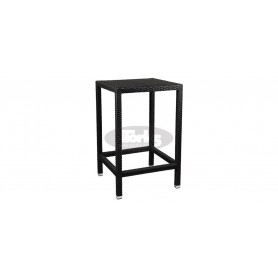 Casale barska miza 70 x 70 cm, barva: črna