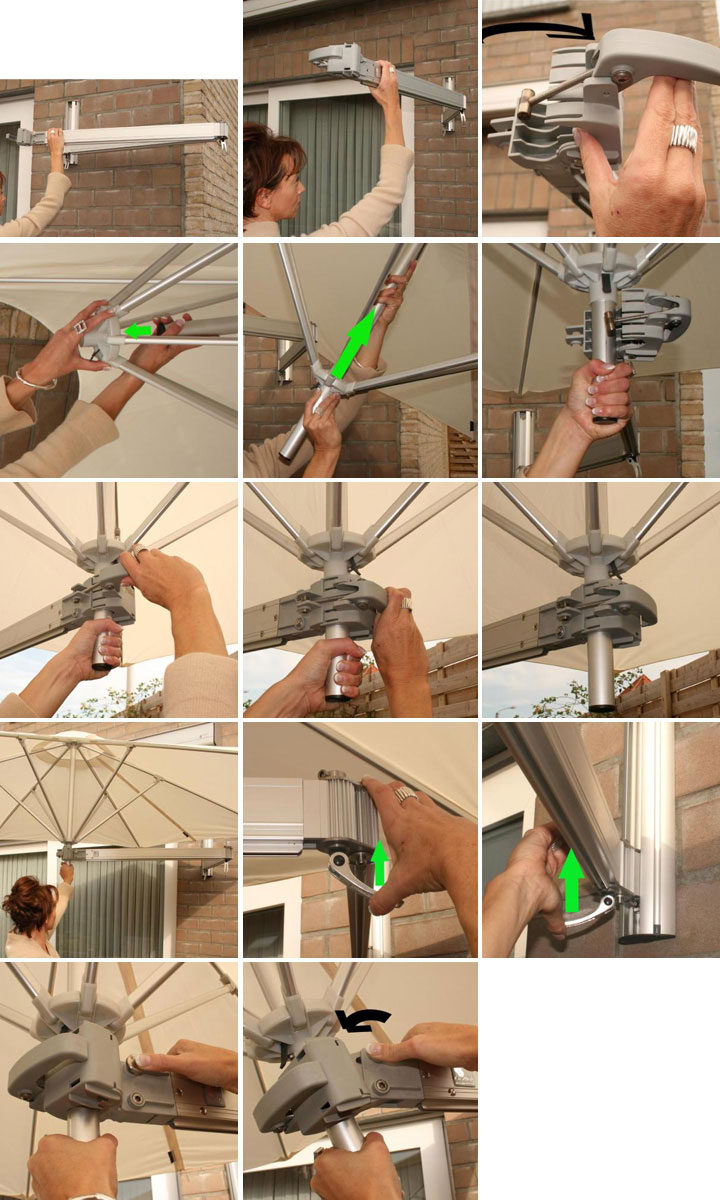 Paraflex umbrella installation