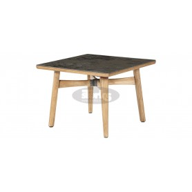 Barlow Tyrie Monterey Dining Table 100 Square - Teak & Ceramic
