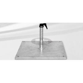 Steel base Z, 70 kg, 58,8 x 58,8 x v37 cm
