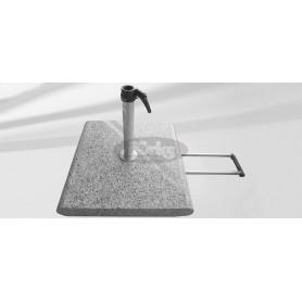 Granit base Z, 55 kg, 55 x 55 x v9 cm with wheels