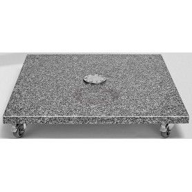 Granite base M4 120 kg, natural stone with castors