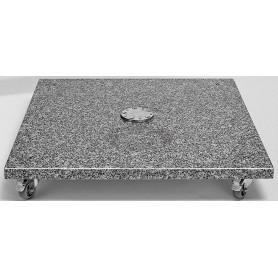 Granite base M4 120 kg, 90 x 90 x v17, natural stone with castors