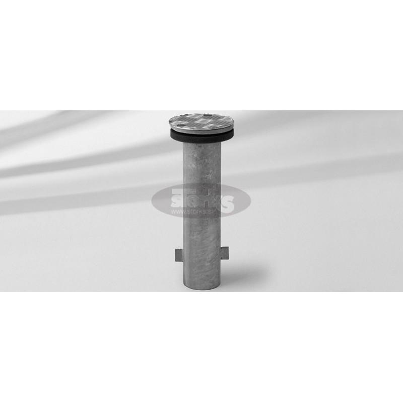 Ground socket M4, galvanized steel