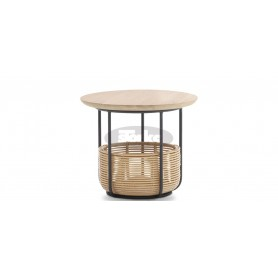 Basket side table small