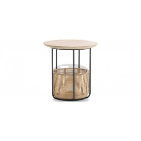 Basket side table medium