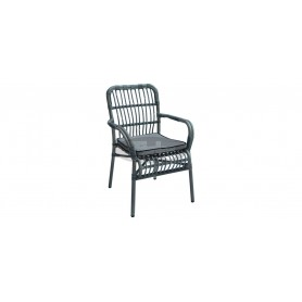 Duval armchair with cushion, color: grey