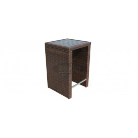 Casale bartable table 70 x 70 cm, color: leather look brown