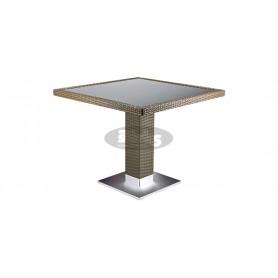 Casale table 80 x 80 cm, color: castana