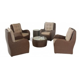 France round SET, color: dark miced brown