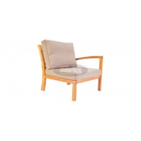 Milano armchair with right arm