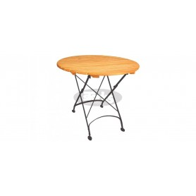 Maja folding table round R 85 x v78 cm