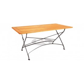 Maja folding table with frame 120 x 80 x v78 cm