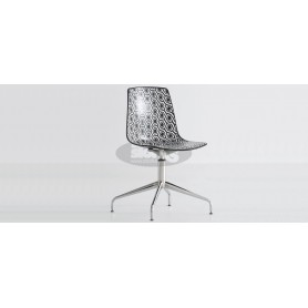 Toulouse L chair with crome base